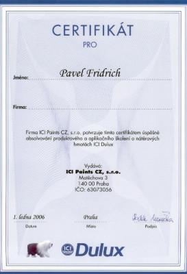 certifikat_dulux_fridrich